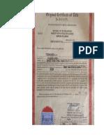 Original Certificate of Title