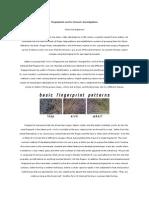 Fingerprints Used in Forensic Investigations