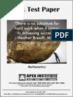 ICSE Sample Paper Class IX - 2015