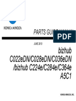 Bizhub C224e Parts Guide Manual