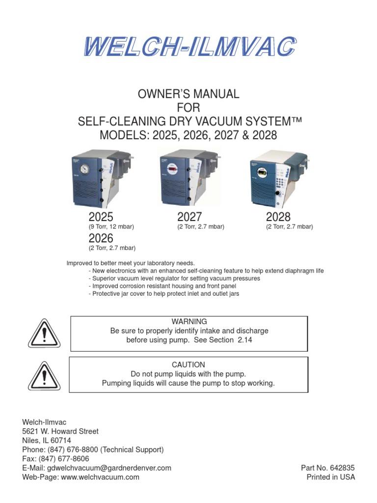 Welch Vacuum Pump Gardner Denver Motor Wiring Diagram
