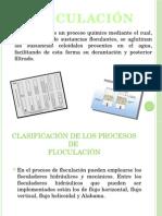 diapositivas floculacion