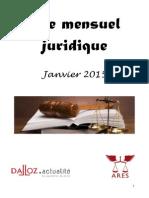 Mensuel Juridique Janvier SLN