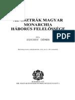 Janossy Denes Az Osztrak Magyar Monarchia Haborus Felelossege