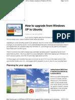 Upgrade to ubantu from windows XP