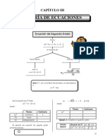 III BIM - 4to. Año - Guía 3 - Ecuación de Segundo Grado