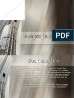 Busines Quiz's rounds & rules