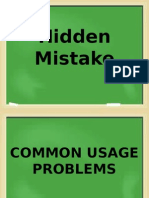 100 Common Usage Problems