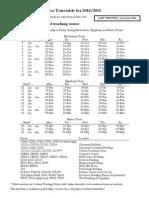 Durham University timetable