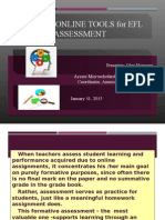 Using Blogs for EFL Assessment