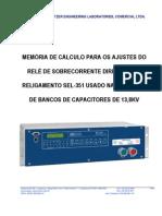 Roteiro de Ajustes Sel-351 Bco Capacitores