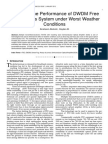 Improving the Performance of DWDM Free Space Optics System under Worst Weather Conditions