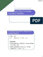 Kuhn-tucker Theory Slides