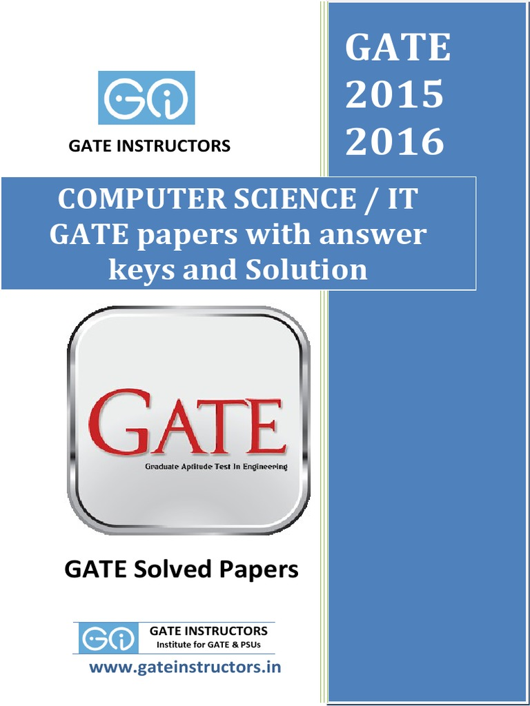 Previous gate paper with answer keys and solutions computer previous gate paper with answer keys and solutions computer science csit relational model public key cryptography fandeluxe Images