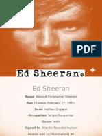 Ed Sheeran Genre