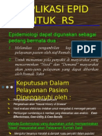 aplikasi epidemiologi dan kejadian sentinel