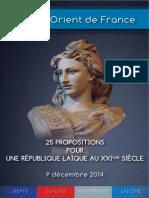 25 Propositions Du GODF 9 Decembre 2014