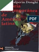 Prefacios Historia Contemporanea América Latina  Halperin Donghi