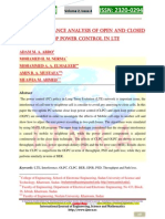 BER Performance Analysis of Open and Closed Loop Power Control in LTE