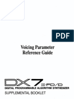 DX7 Voicing Parameter Reference Guide