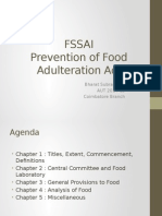 FSSA 2011 Food Adulteration