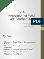 FSSA 2011 Food Adulteration
