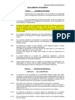 REGLAMENTO ACADEMICO UNPRG- RESOLUCIÓN Nº560-R