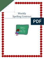 monthly speller menu