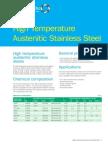 Austenitic High Temperature Grades Datasheet