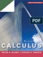 Calculus Multivariable 2nd Edition Blank & Krantz - Vector Calculus PDF