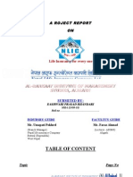 Nlic Project Work Report From Eashwari Bhandari(ABIMS)