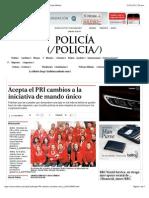 31-01-15 Acepta El PRI Cambios a La Iniciativa de Mando Único - Grupo Milenio