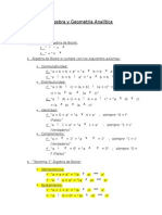 Álgebra y Geometría Analítica