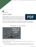 Horno Solar - Funcionamiento, Temperatura, Tiempos de Cocción