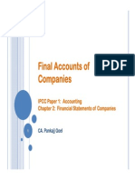 Final Accounts of Companies