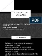 Tehnici de Vanzare