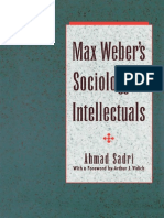 Sadri-1992-Max Weber's Sociology of Intellectuals