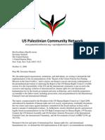 Palestine Community Network Letter to UN