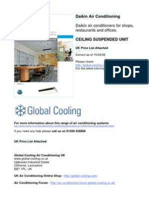 Daikin Ceiling Suspended Air Conditioning | Heating