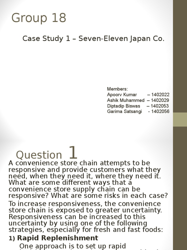 Seven Eleven Japan Company SCM Inventory Supply Chain ResearchGate Case  Study Bullwhip Effect Course Hero
