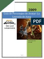 Guia de Personajes de Avatar La Leyenda de Aang