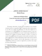 MICHEL HENRY Difícildemocracia