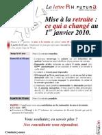 Lettre d'Information RHF Janvier 2010