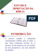 Estudo e Interpretação Da Bíblia