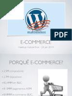 Wordpress - E-COMMERCE