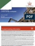 Canadian Oil Sands 12-Jan-2015 Presentation