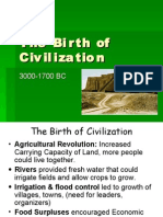 The Birth of Civilization - Section 4, Vol. 1