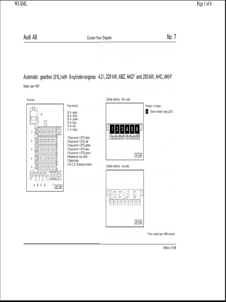 Audi A8 Transmission Wiring Automatic Valve 4e Fuse Box