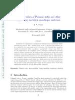 2Extreme Values of Poisson Ratio