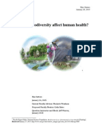 Biodiversity and Human Health - Sutters